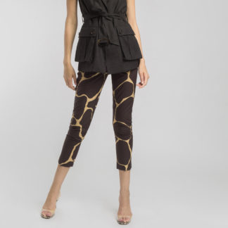 Pantalón tobillero estampado marrón Alba Conde