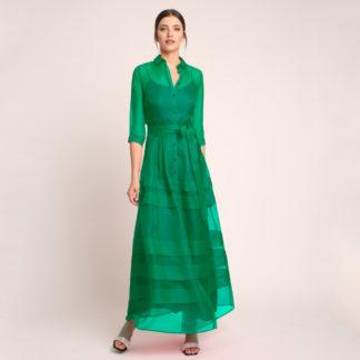 Vestido camisero de fiesta de seda natural Alba Conde