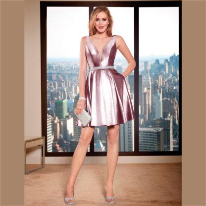 Vestido de fiesta corto con cintura de strass Susanna Rivieri