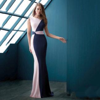 Vestido sirena de linea serena bicolor Angela Ariza