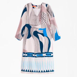 Vestido túnica de seda estampada Vilagallo