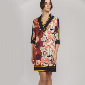 Vestido tunica estampado tipo pañuelo Alba Conde