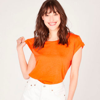 Camiseta escote redondo de algodón orgánico Absolut Cashmere