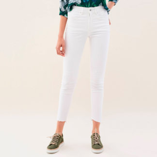 Tejano blanco tobillero efecto push in Salsa Jeans