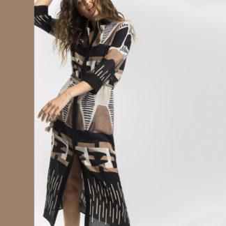 Vestido camisero estampado étnico Alba Conde