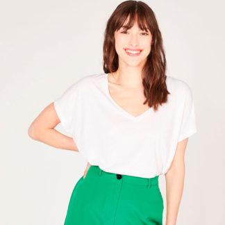 camiseta de pico oversize algodón orgánico Absolut Cashmere