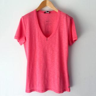 Camiseta pico efecto desgastado Monari