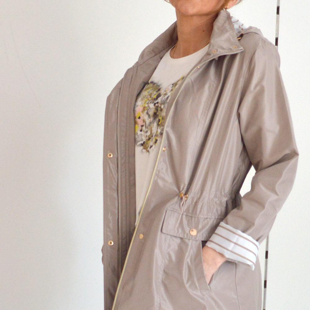 Parka estilo marinero capucha Roberto Bassi en gus gus boutique