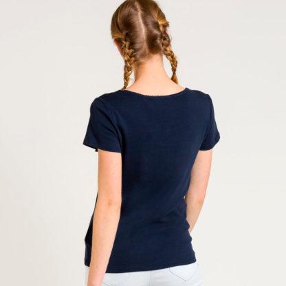 Camiseta cuello redondo con botones Naf Naf