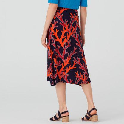 Falda midi coral tipo pareo Nice Things