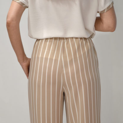 Pantalon crop de rayas Hongo