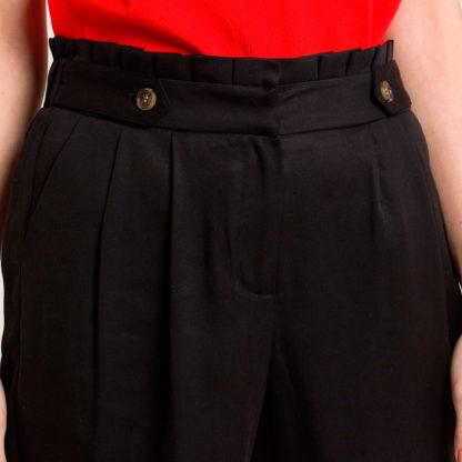 Pantalon paper bag tiro alto Naf Naf