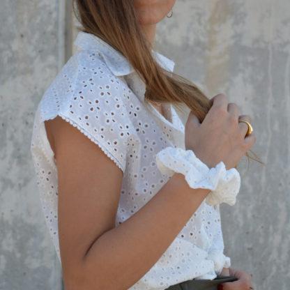 Camisa blanca bordado suizo Md'm