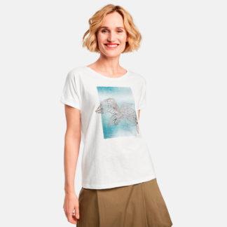 Camiseta de mujer con flor en relieve Gerry Weber
