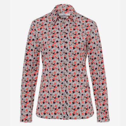 Camisa recta print corazones