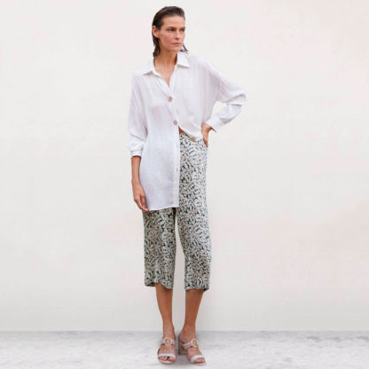 pantalon crop estampado Javier Simorra