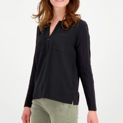 Blusa doble tejido con bolsillos Monari