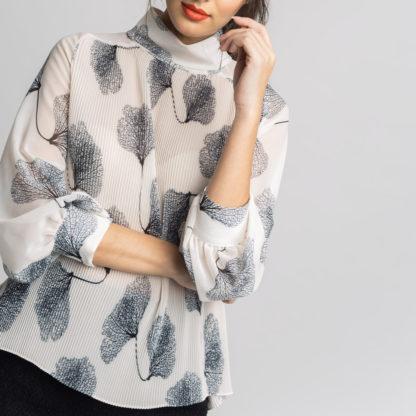 Blusa plisada estampada Alba Conde