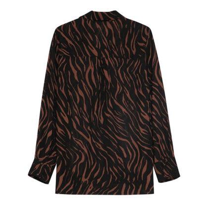 Camisa negra muselina estampada Grace Mila