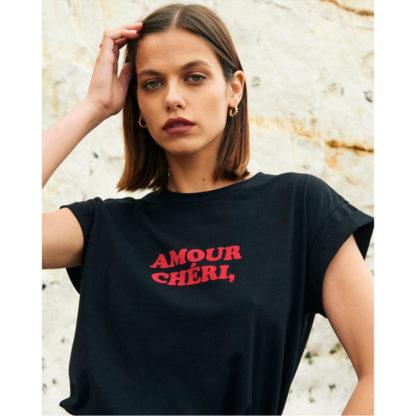 Camiseta negra Amour Cheri Grace and Mila