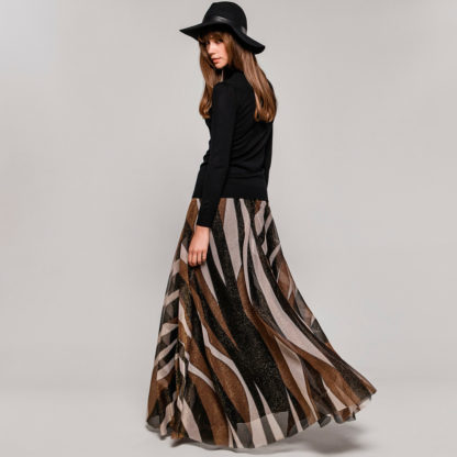 Falda larga de tul rayas Access
