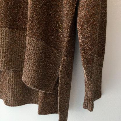 Jersey fino y fluido con lurex cobre Concreto