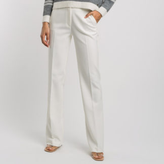 Pantalón de vestir marfil Alba Conde