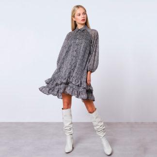 Vestido oversize pata de gallo Imperial Fashion