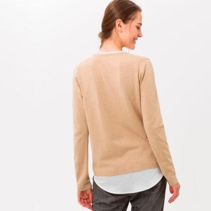 Jersey camel efecto doble prenda Brax