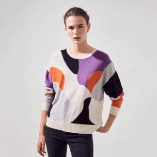Jersey fantasía multicolor y lúrex Suncoo