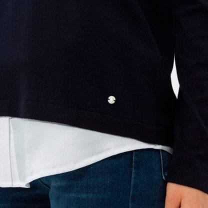 Jersey marino efecto doble prenda brax