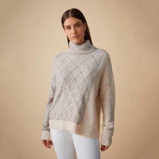 Jersey de tricot combinado mangas murciélago Javier Simorra