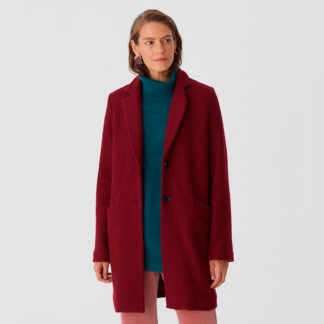 Abrigo básico lana cocida