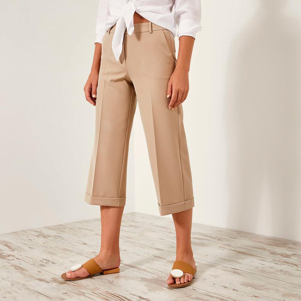 Pantalón cropped de vestir