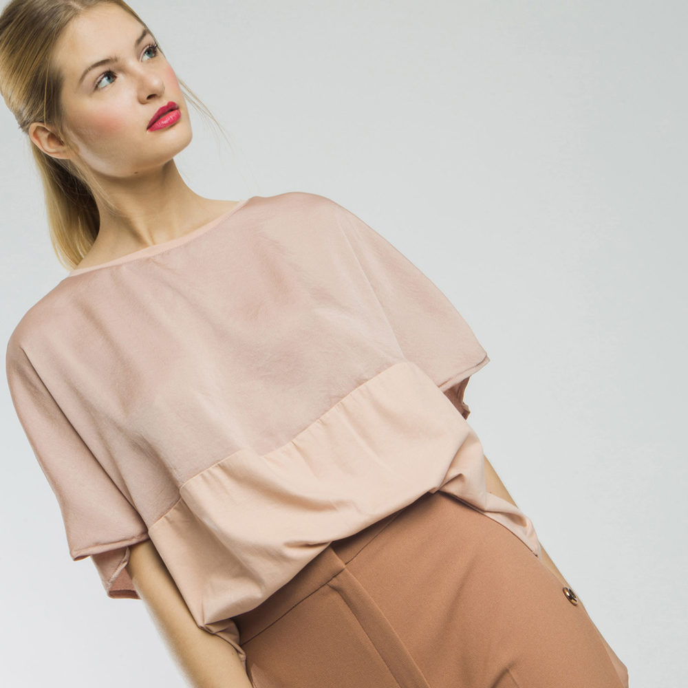 Blusa over doble tejido AC en gus gus boutique