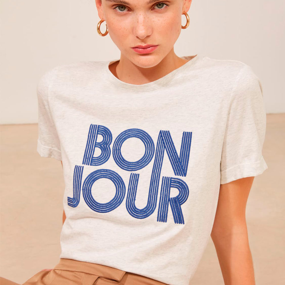 Camiseta manga corta Bonjour Suncoo