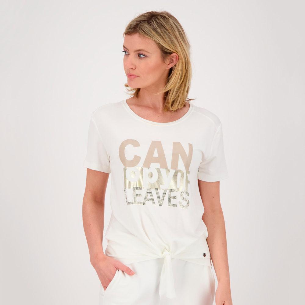 Camiseta manga corta con nudo monari en gus gus boutique