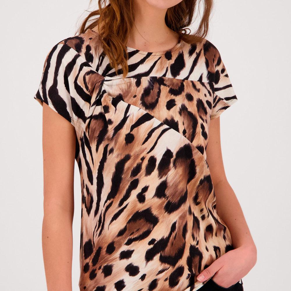Camiseta señora manga corta print tigre monari en gus gus boutique