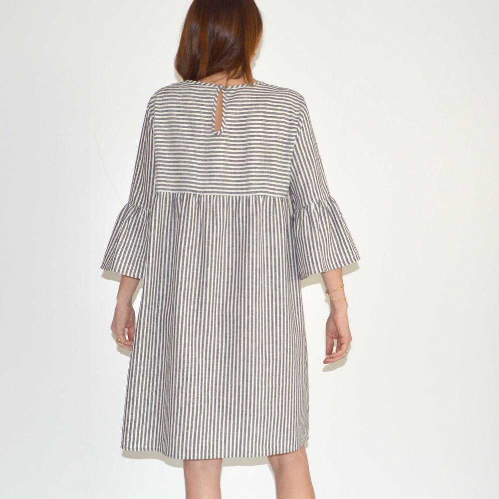 Vestido amplio mil rayas La Fee Maraboutee en gus gus boutique