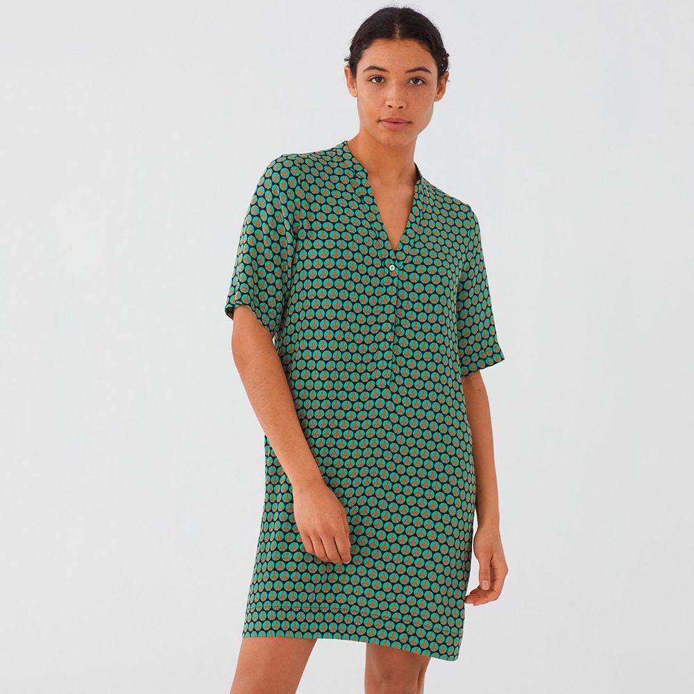 Vestido túnica Peace Dot Print