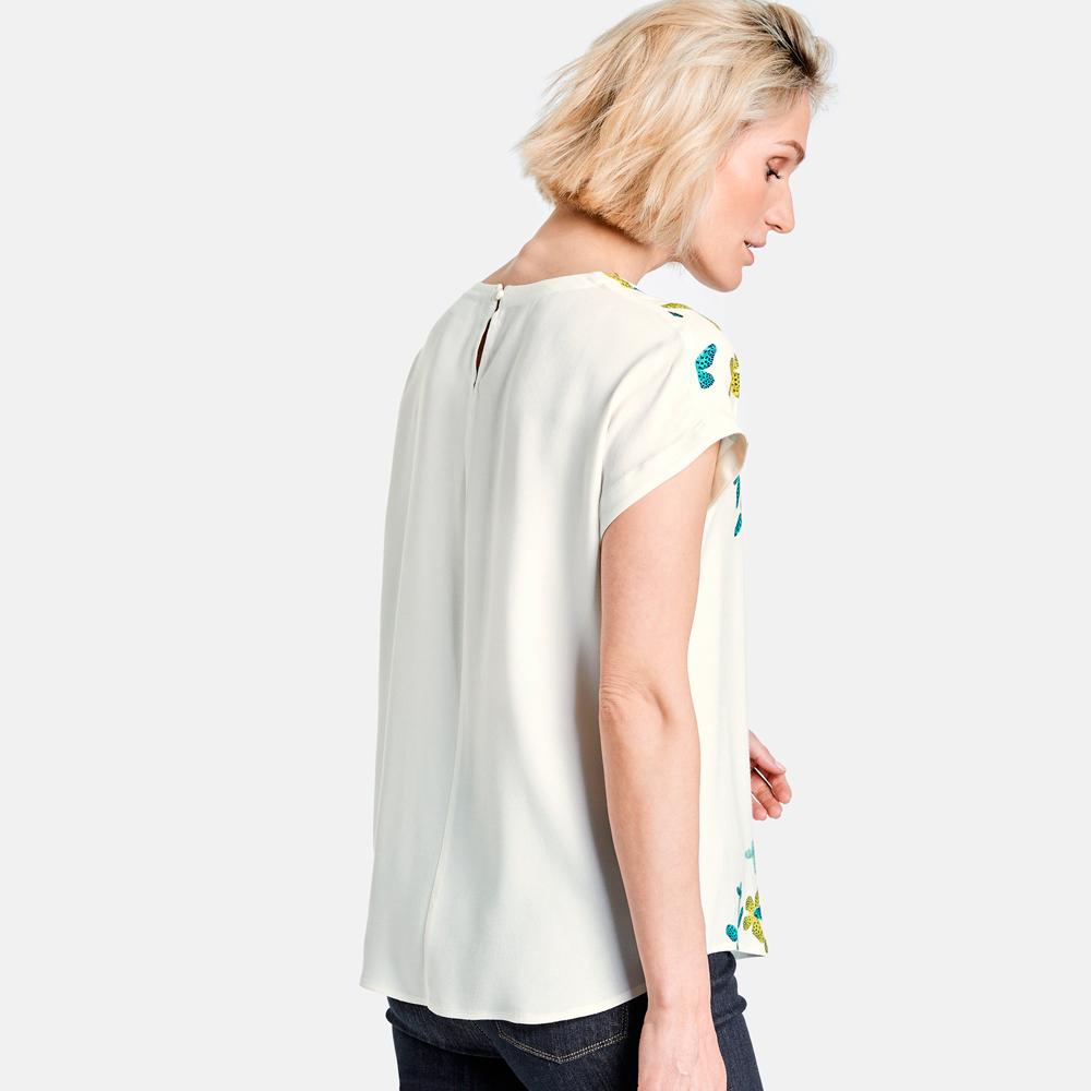 Blusa de crepe con mariposas Gerry Weber en gus gus boutique