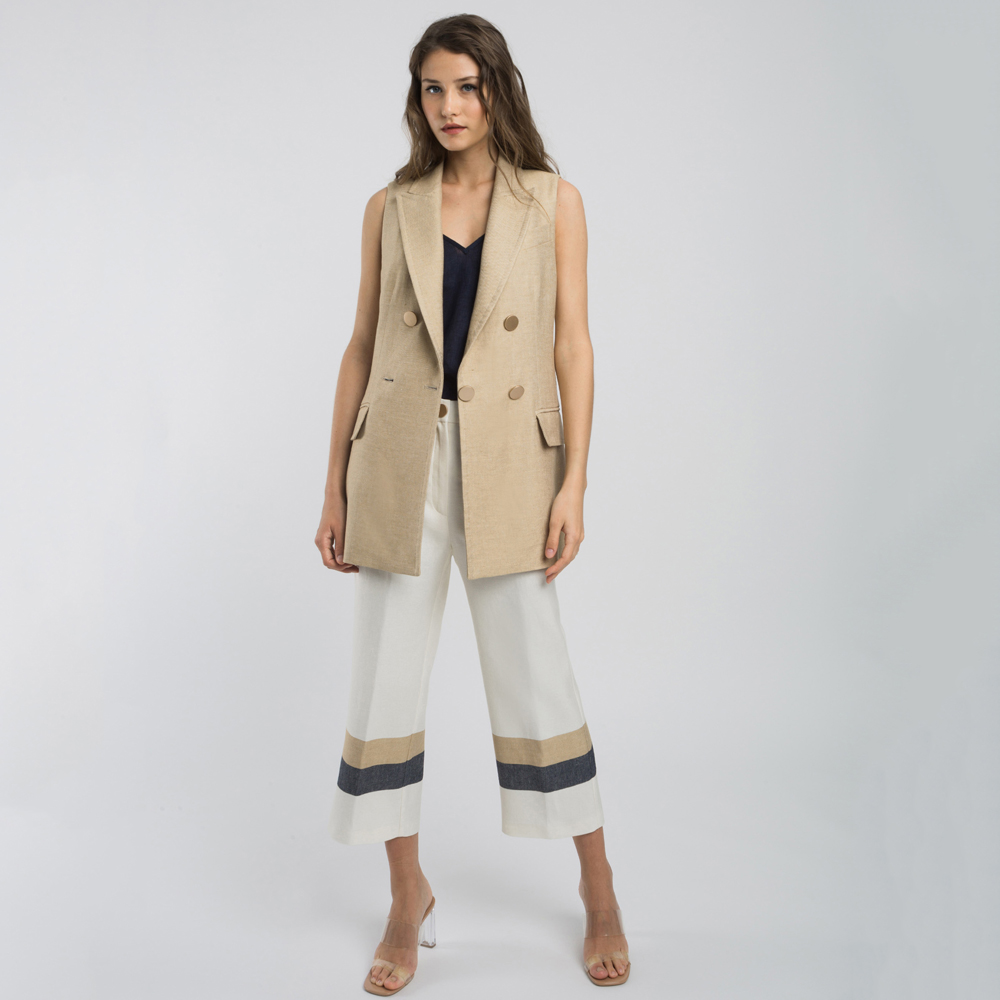 Pantalón culotte detalle botones alba conde en gus gus boutique