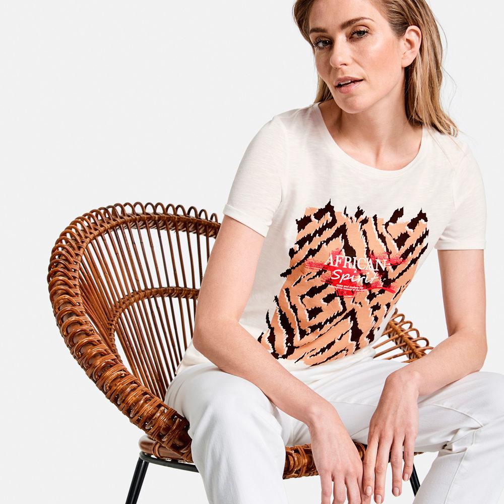 Camiseta-marfil--estampado-animal--gerry-weber en gus gus boutique