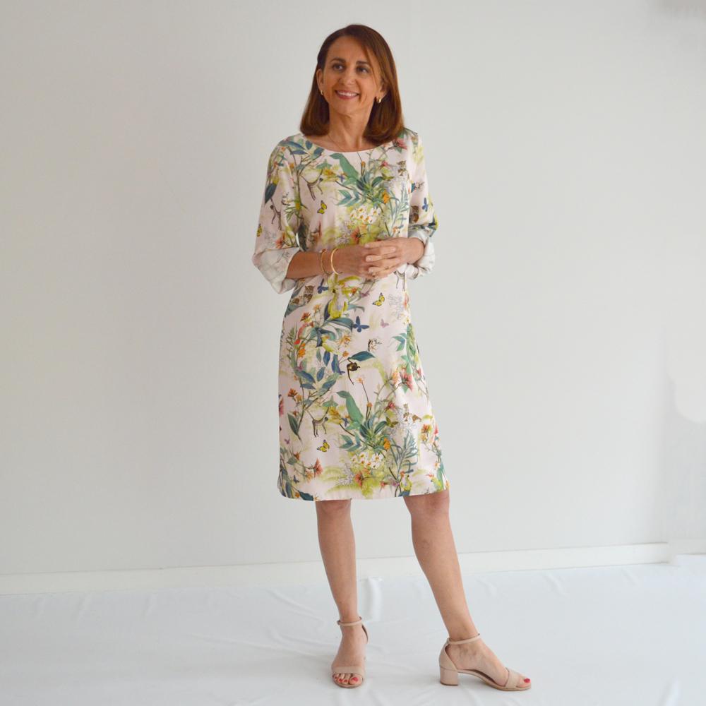 Vestido corto recto estampado naturaleza gerry weber en gus gus boutique
