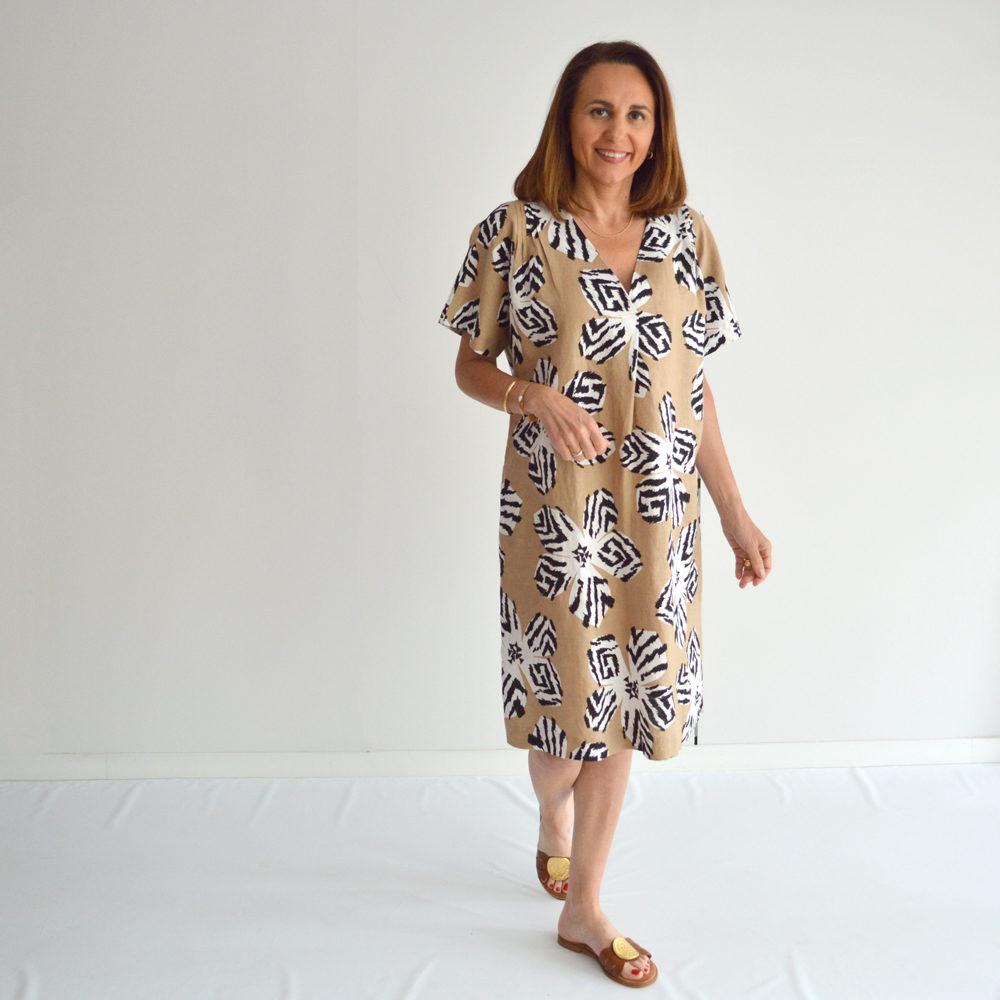 Vestido de lino estampado flor Gerry Weber en gus gus boutique