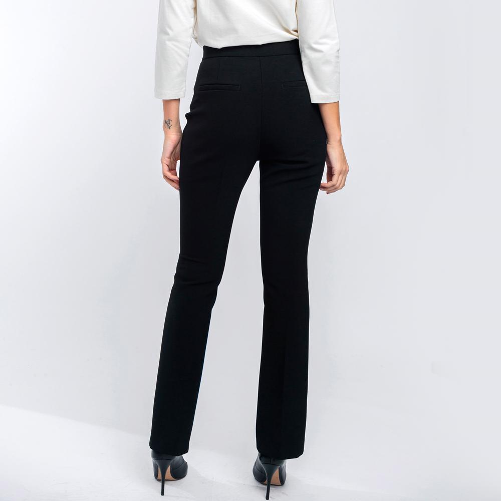 Pantalón negro con aberturas en bajo Alba Conde en gus gus boutique