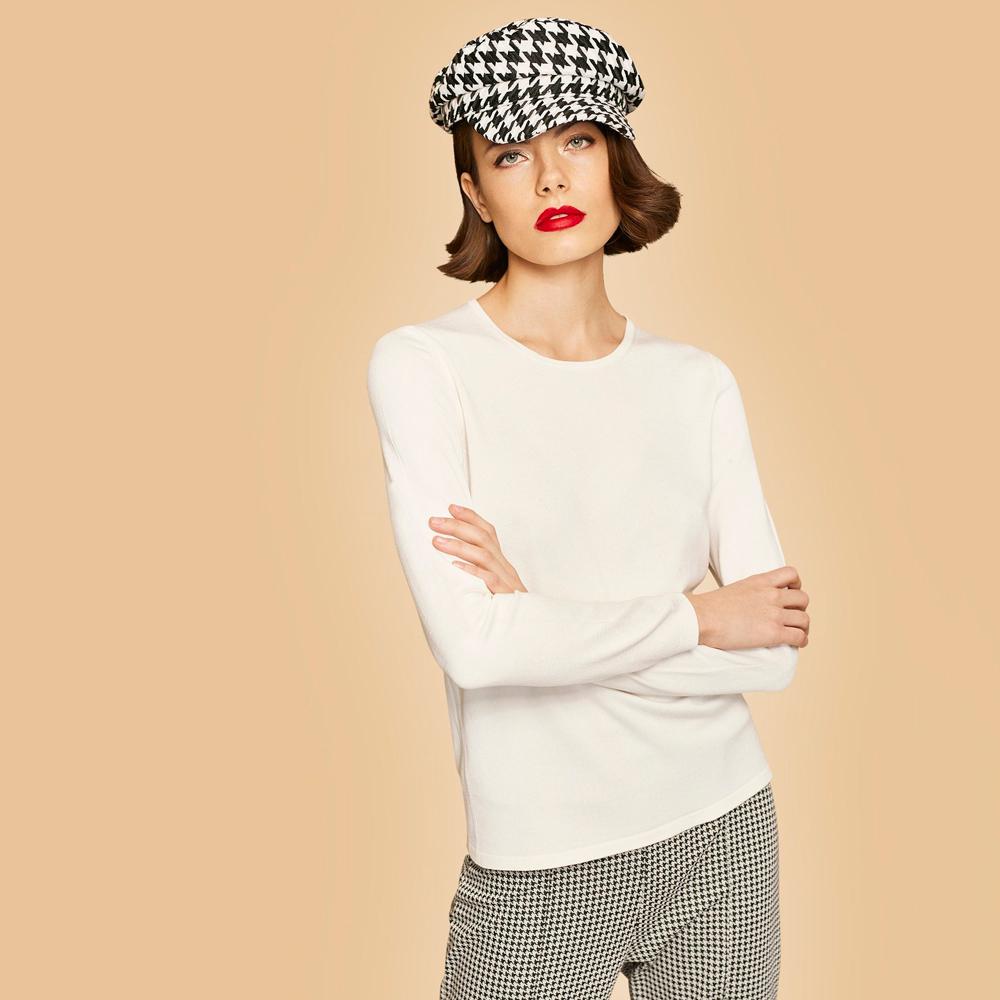 Jersey liso manga larga escote en V ESCORPION en gus gus boutique