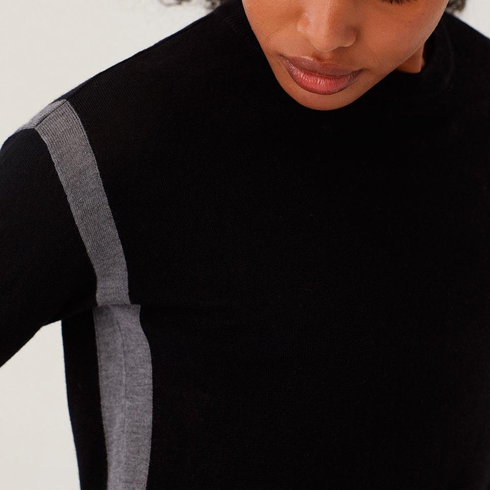 Jersey negro contraste color Nice Things en gus gus boutique