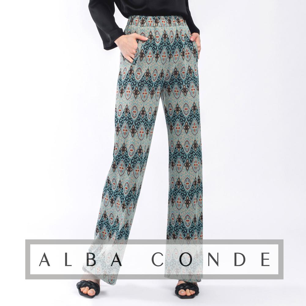 Pantalón estampado turquesa Alba Conde en gus gus boutique