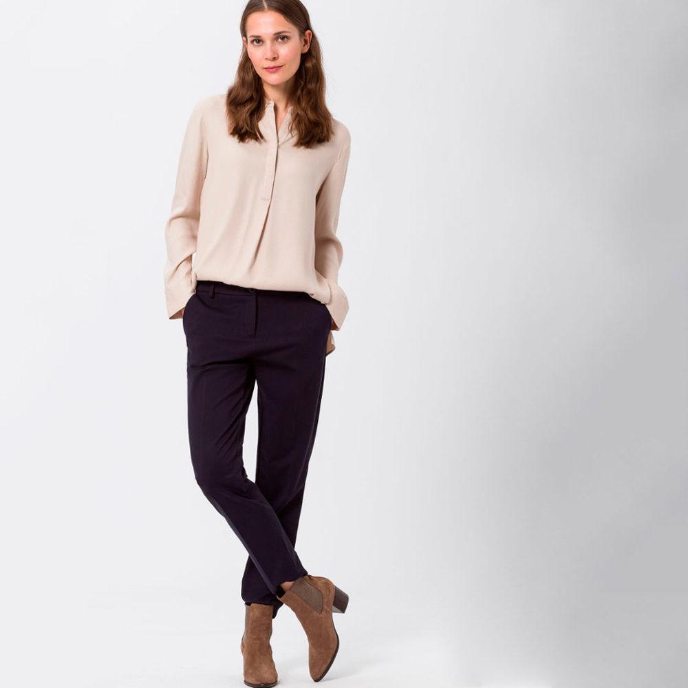 Pantalones punto milano cintura elástica BRAX en gus gus boutique